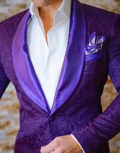 Paisley Purple Prom Suits Front