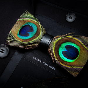 AIRTAILORS™ MULTICOLOR BIRDS FEATHER BOWTIE