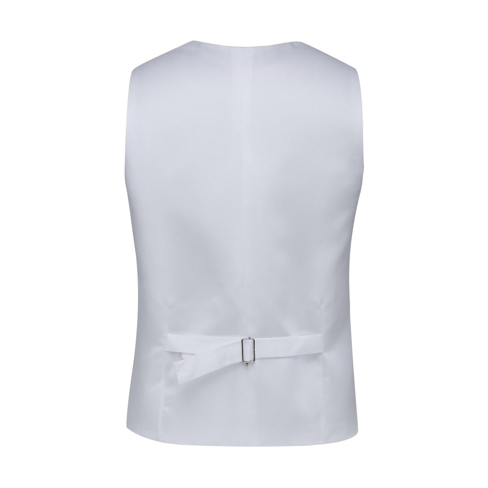 Camouflage Vest for Rustic Wedding White Satin Back