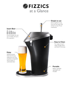 Fizzics Original Beer Dispenser with Patented Micro Foam Technology