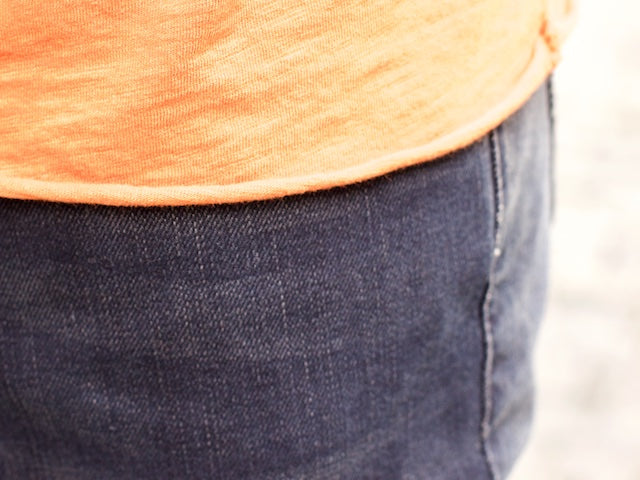 Nudie Jeans Raw Hem Tee Slub Orange