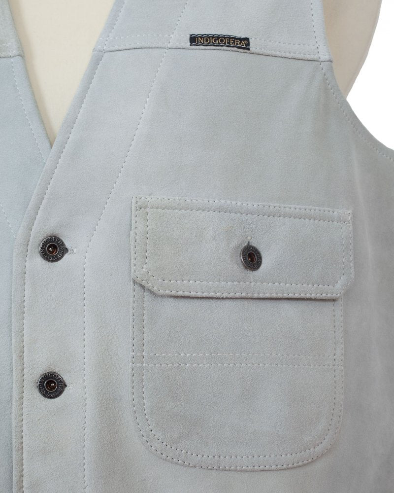 Indigofera Floyd Vest White Rough Out