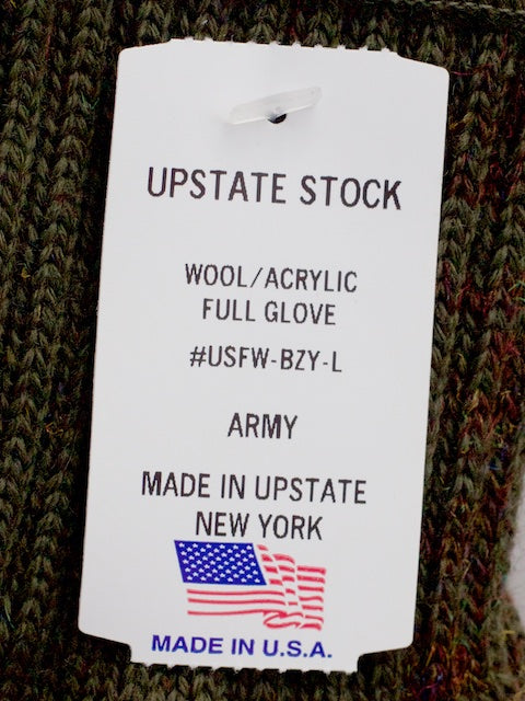 Upstate Stock Full Fingered Gloves Army