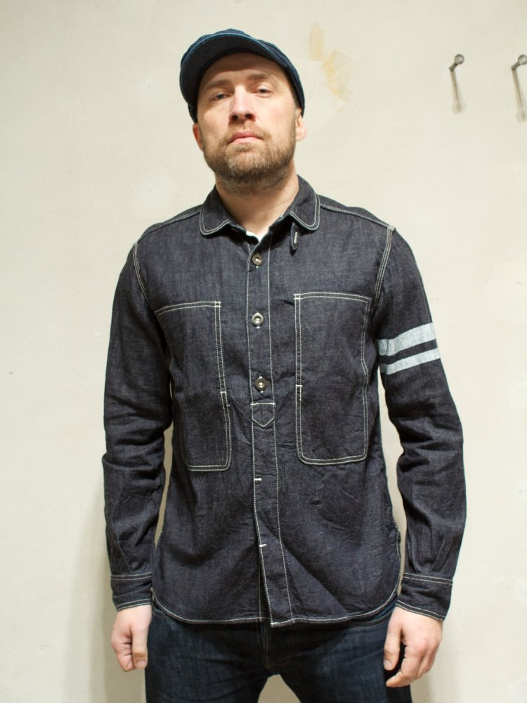 Momotaro SJ191 Denim Jail Pocket Shirt