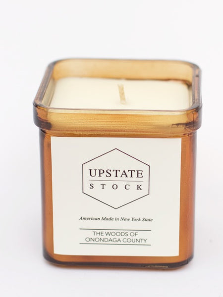 Upstate Stock THE WOODS OF ONONDAGA COUNTY COCONUT WAX CANDLE