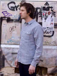Japan Blue JB-SE01 Indigo Double Gauze Labor Shirt
