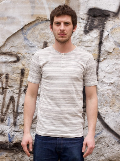 Homespun Knitwear Great Plains Tee 40s Stripes