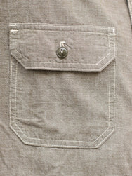 Momotaro Jeans MS-033OD - Chambray Work Shirt Olive