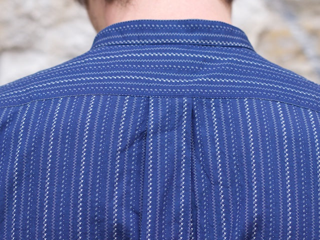 Stevenson Overall Co. SL-2IS Saloon Shirt Indigo Stripe