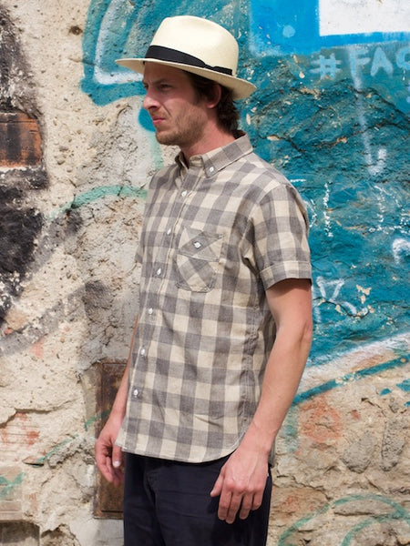 3sixteen SS Workshirt Mocktwist Grey