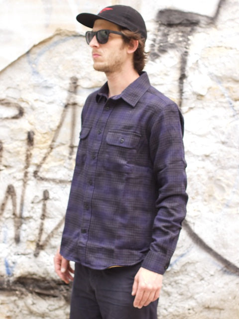 WM A.C. Tim Checked Shirt Black Iris