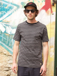 Armor Lux T-shirt Heritage Black Jaspe Mix/Black