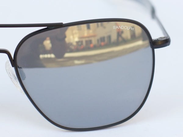 Aviator Matte Black, Grey Mirror, Bayonet
