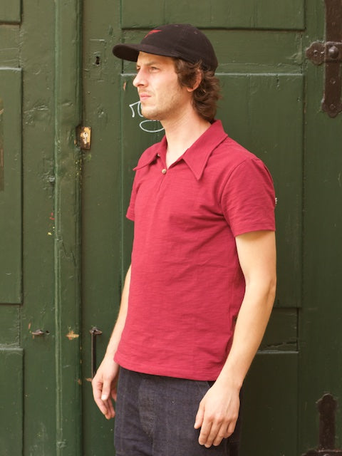 SJC Deco Polo Shirt Carmine Red
