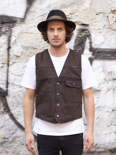 Indigofera Floyd Vest Brown/Black Hickory