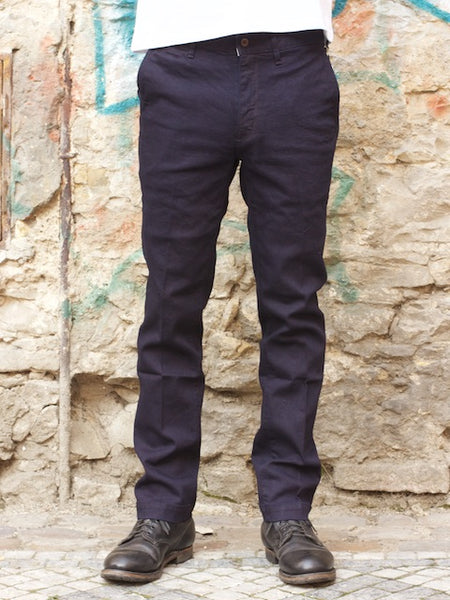 Japan Blue  JB4100 - Slim French Work Chino Navy