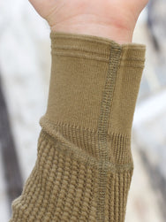 Homespun Knitwear Thermal Crew Bulky Waffle Hunter Olive