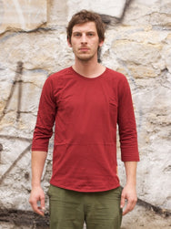 Nudie jeans Quarter Sleeve Tee Burnt Red