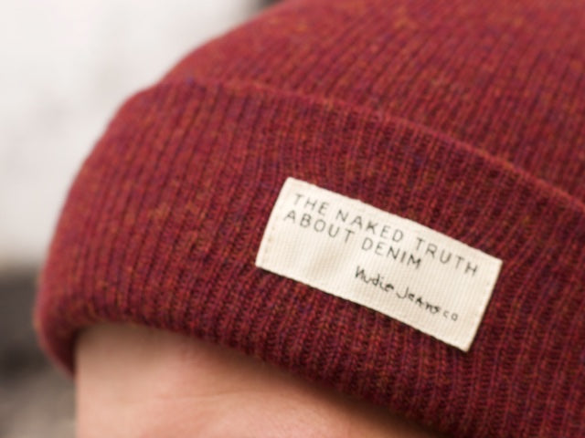 Nudie jeans Liamsson Beanie Burnt Red