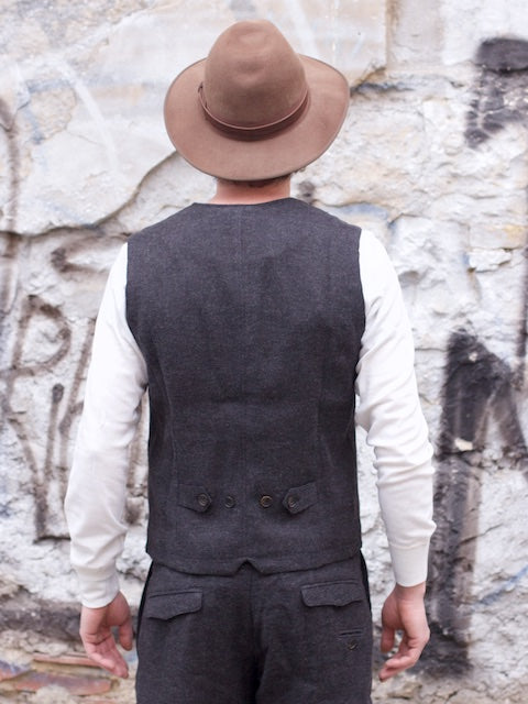Hansen Garments William Vest, Dark Grey