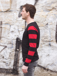 Eat Dust Clothing Club Jersey Striped Red/Black