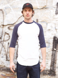 Jungmaven Stones Raglan Optic White/Navy 7oz