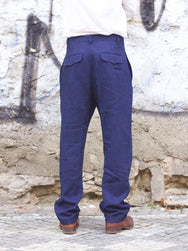 Hansen Garments Mads Loose Fit Trousers, Real Indigo