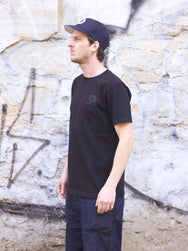 WM A.C. Basic Print Tee, Black
