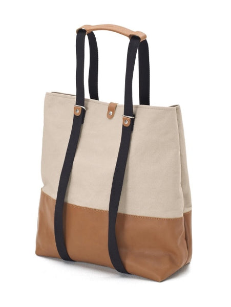 Qwstion Bags Shopper Brown Leather Canvas