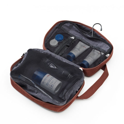 Qwstion Bags Toiletry Kit Organic Redwood