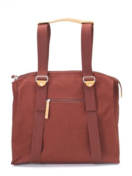 Qwstion Bags Simple Ziptote Organic Redwood