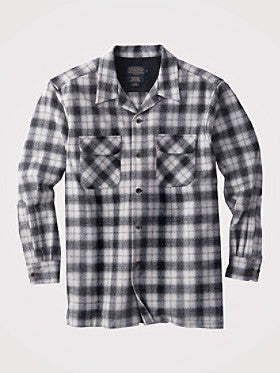 Pendleton  Fitted Board Shirt Black/Grey Ombre