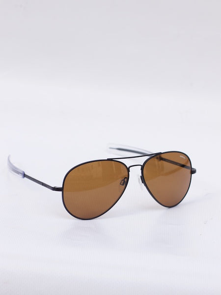 Concorde Matte Black, Tan Glass Polarized,  Bayonet