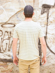 Jungmaven Yarn Dyed SS Pocket Tee Double Stripe