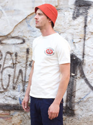 Studio d'Artisan 9849A Loopwheel Short Sleeve Tee White