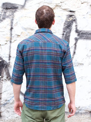 Indigofera Delray Cotton Flannel, Grey Overdye
