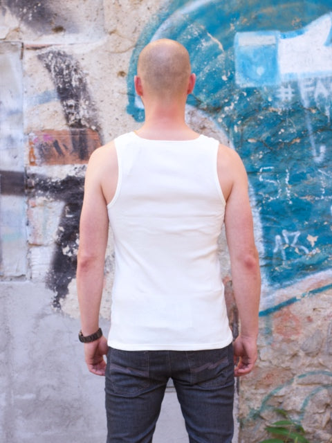 Nudie Jeans Tank Top 2x2  Offwhite