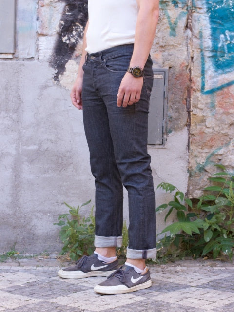 Nudie Jeans Grim Tim Crinkle Grey