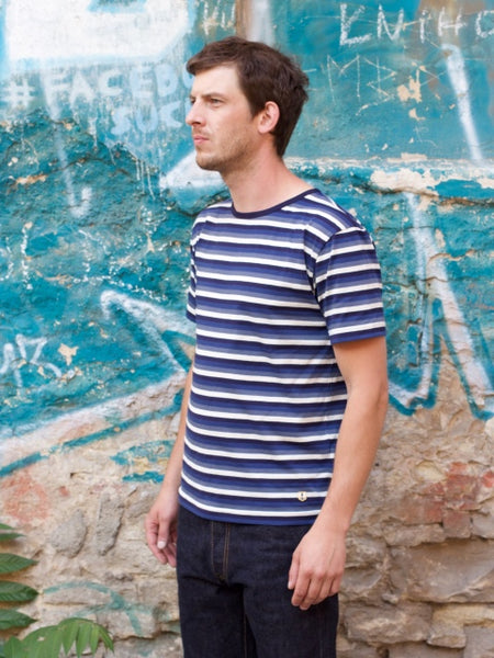 Armor Lux Stripe Tee - Natur/Avio/Royal/Seal