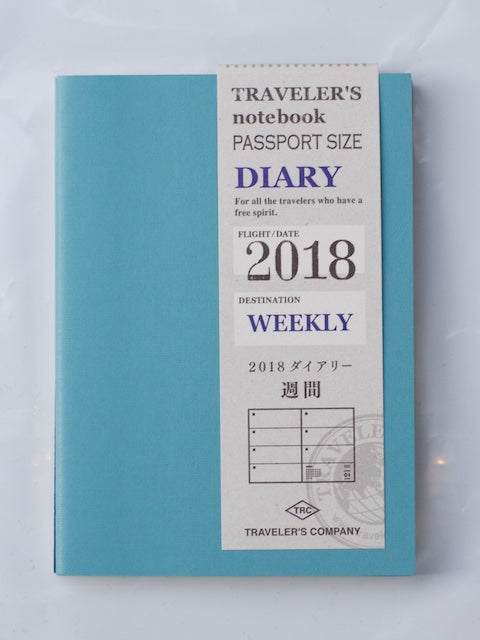 Traveler's Company 2018 Weekly Diary Passport Size