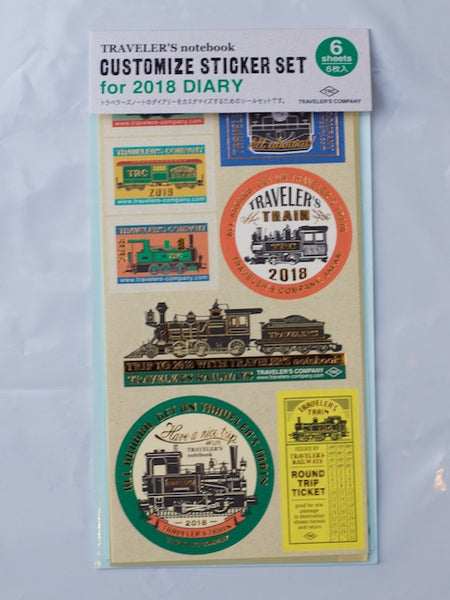Traveler's Company 2018 Diary Custom Sticker Set