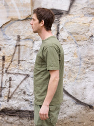 National Athletic Goods Rib Pocket Tee, Army Green