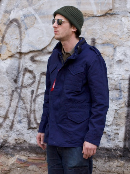 Alpha Industries x 3sixteen M65 Field Coat Indigo