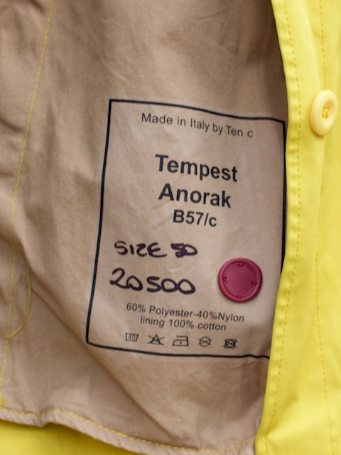 Ten C Tempest Anorak Yellow
