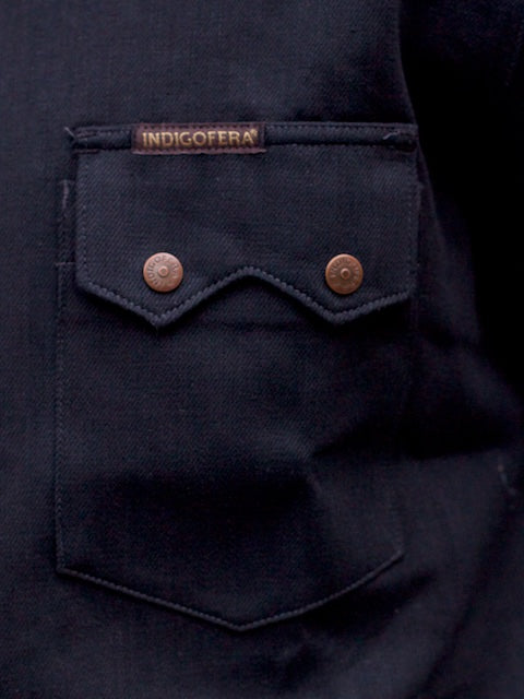 Indigofera Ryman Shirt Black Denim