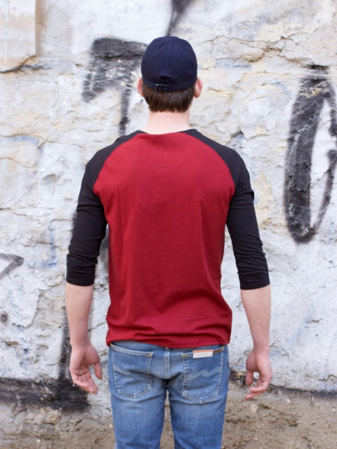 Nudie Jeans Abbe Quarter Sleeve Mantle Red/Black