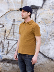 Nudie Jeans  Kjell Terry Polo Shirt Lion