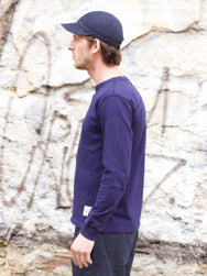 Eat Dust Henley Heavy Slub Peacoat Blue