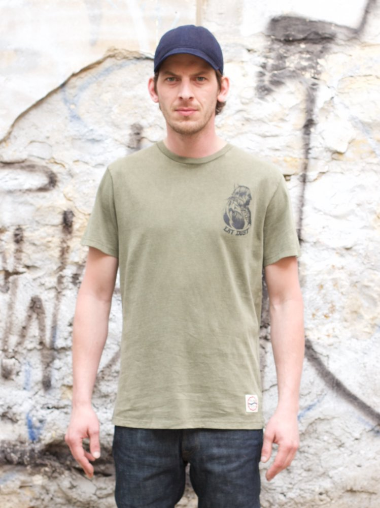 Eat Dust The Indian T-shirt SS Khaki
