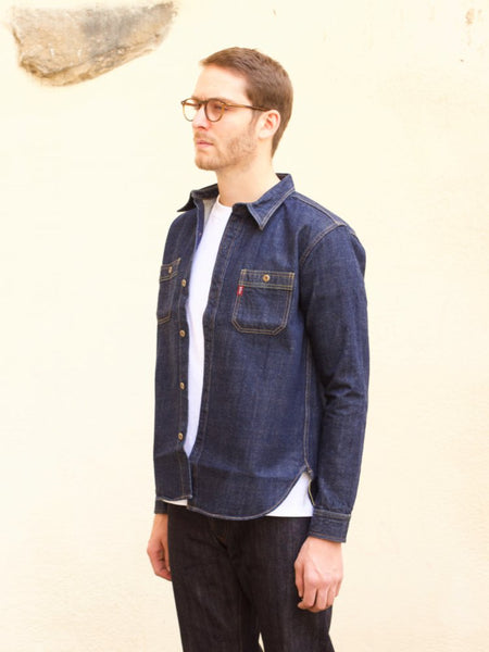 Studio d'Artisan 5595 Suvin Gold 13oz Denim Work Shirt